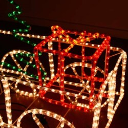christmas outdoor decoration train light rope metal lighted 3d motif led decorations animated holiday sculpture lights yard multi lawn rooftop