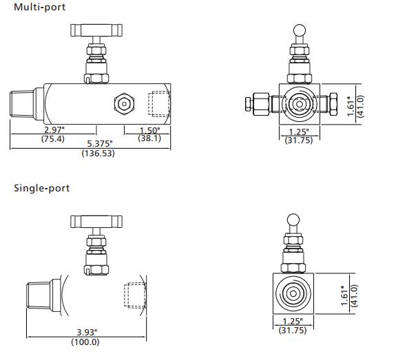 10000psi Instrumentation Gauge Valve,Gauge Root Valve