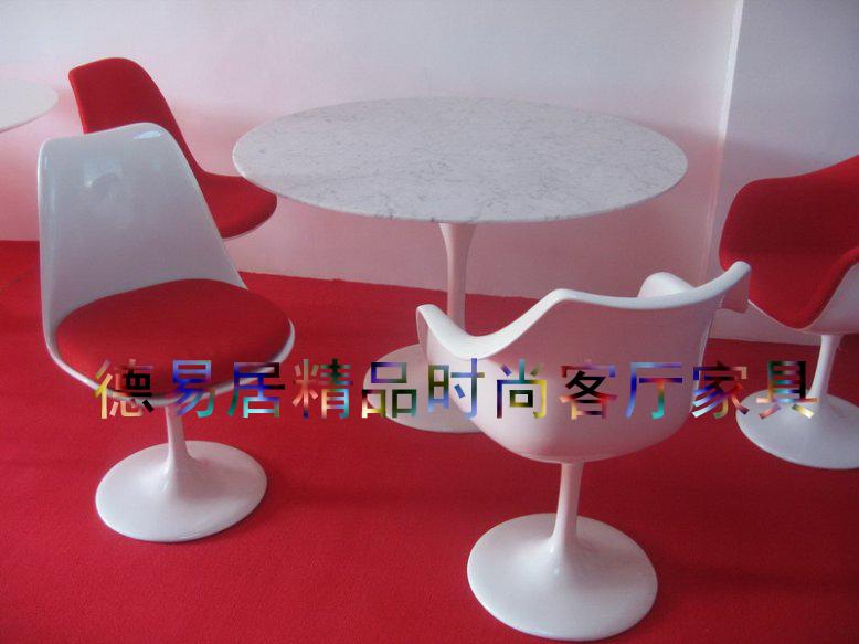 Europea redonda diseo clsico mrmol natural mesa de comedor mesa de comedor mesa de comedor de mesa Tulip 110 recta en Mesas de Comedor de