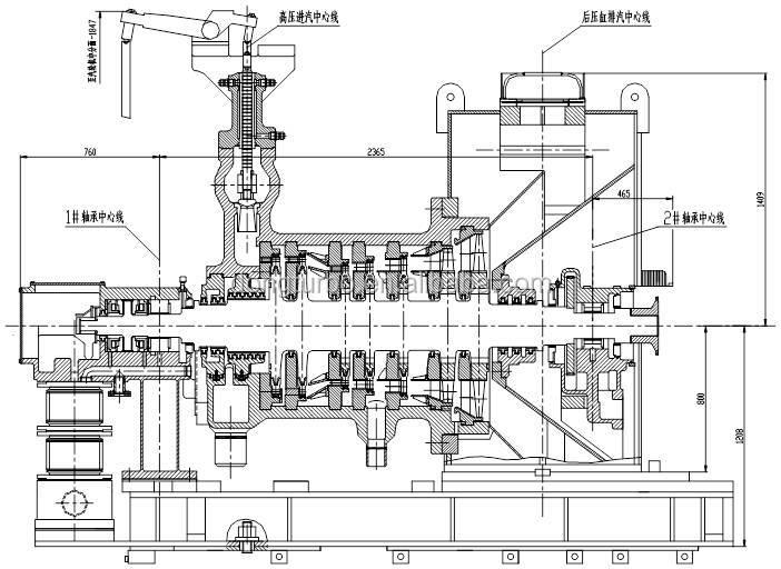 200mw Class Steam Turbine Generator For Garbage Power