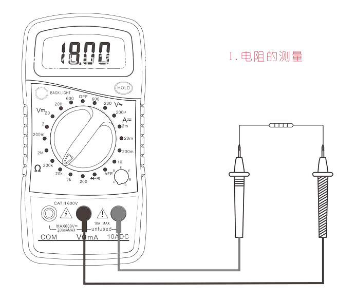 Xl-830l Digital Multimeter Voltmeter Ohmmeter Ammeter Ohm