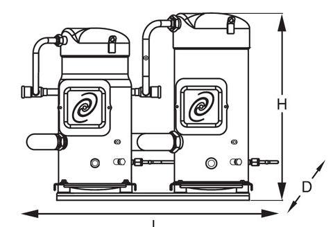 Sm285 Danfoss Tandem Type Compressor,Danfoss Compressor