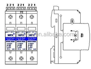 Three Phase Group Surge Protective Device Spd 1000vdc B+c