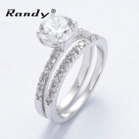 Couple Engagement Ring Zirconia Antique Wedding Ring Sets ...