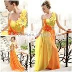 Yellow and Orange Prom Dresses