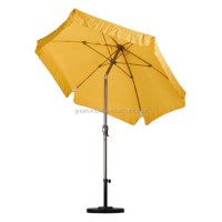 7.5 Feet Windproof Patio Umbrella With Resilient ...