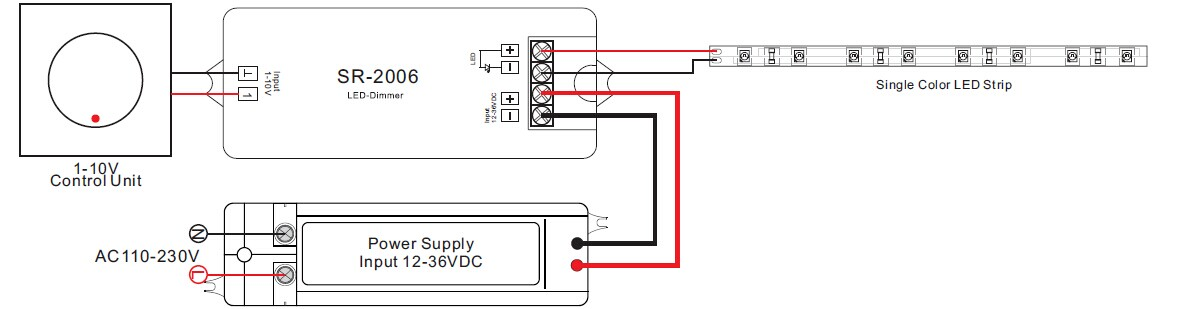 push dim wiring diagram nissan sentra radio 0 - 10 v gradateur 1 dimmer / contrôle, button control, potentiomètre de ...
