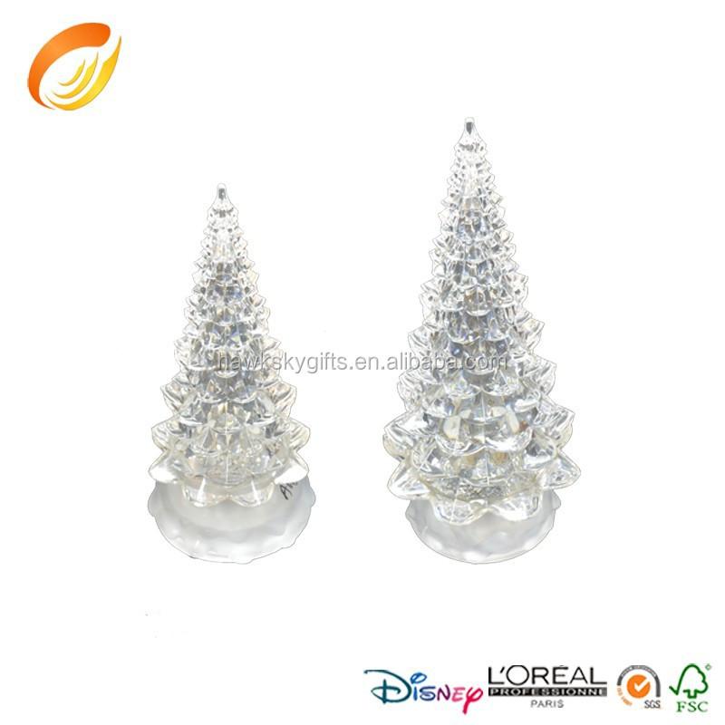 4.5 Width Ice Crystal Acrylic Clear Christmas Tree For