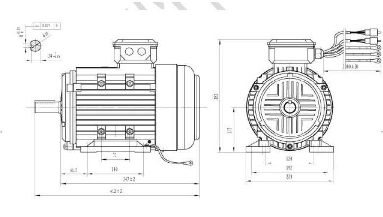 48v 2kw Permanent Magnet Brushless Dc Motor For Electric