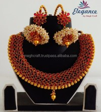 Pearl Jhumka Earrings With South Indian Rani Haram Sets ...