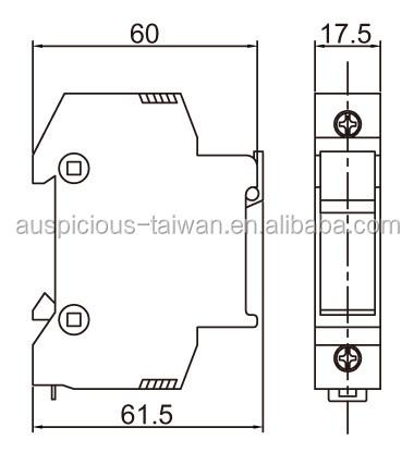10*38mml 32a 600vac Din Rail Type Fuse Holder (fsr-32n