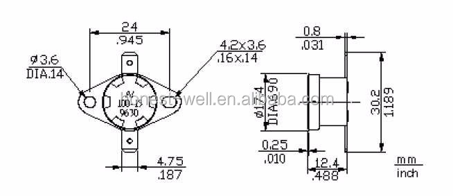 T24 Microwave Oven Bimetallic Thermostat T24 Thermostat