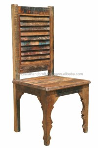 Wooden Recycle Dining Chair Colorful - Buy Vintage Dining ...
