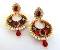 South Indian Meenakari Chandelier Earring-wholesale ...