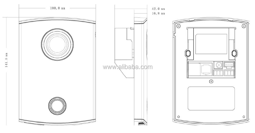 Dahua Vto6100c & Vth1520ah Kit Package Ip Video Door Phone