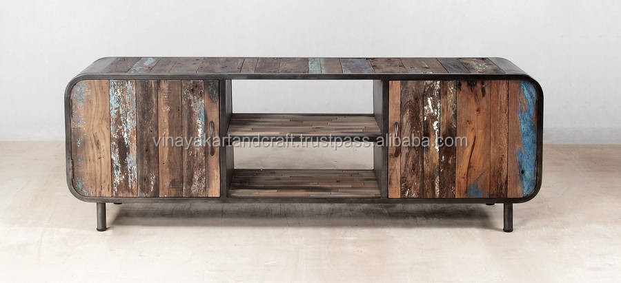 Industrial Style Wooden Tv Stand,Vintage Tv Stand