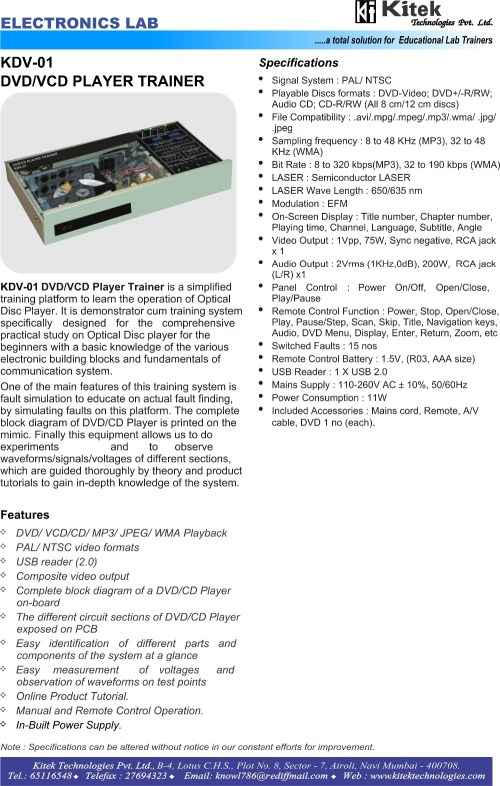 small resolution of block diagram vcd player