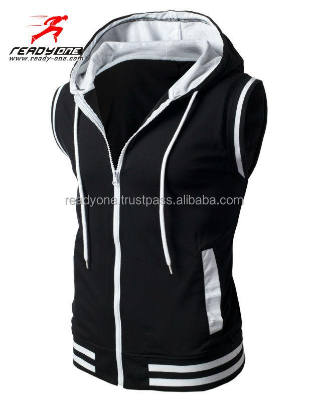 Wholesale Stylish Blank Sleeveless Hoodies For Men Buy
