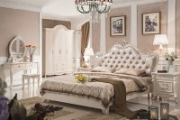 Antique style french furniture elegant bedroom sets py ...