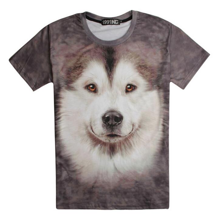 cartoon dog men brand t shirt fashion sale short sleeve