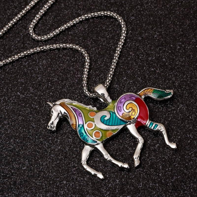 4acc9410f29c ZOSHI de esmalte colorido caballo conjuntos de joyas para niñas ...