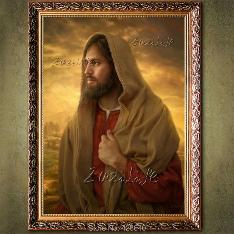 ٩(^‿^)۶Decoración para el hogar Jesus Christ pintura al retrato de ...