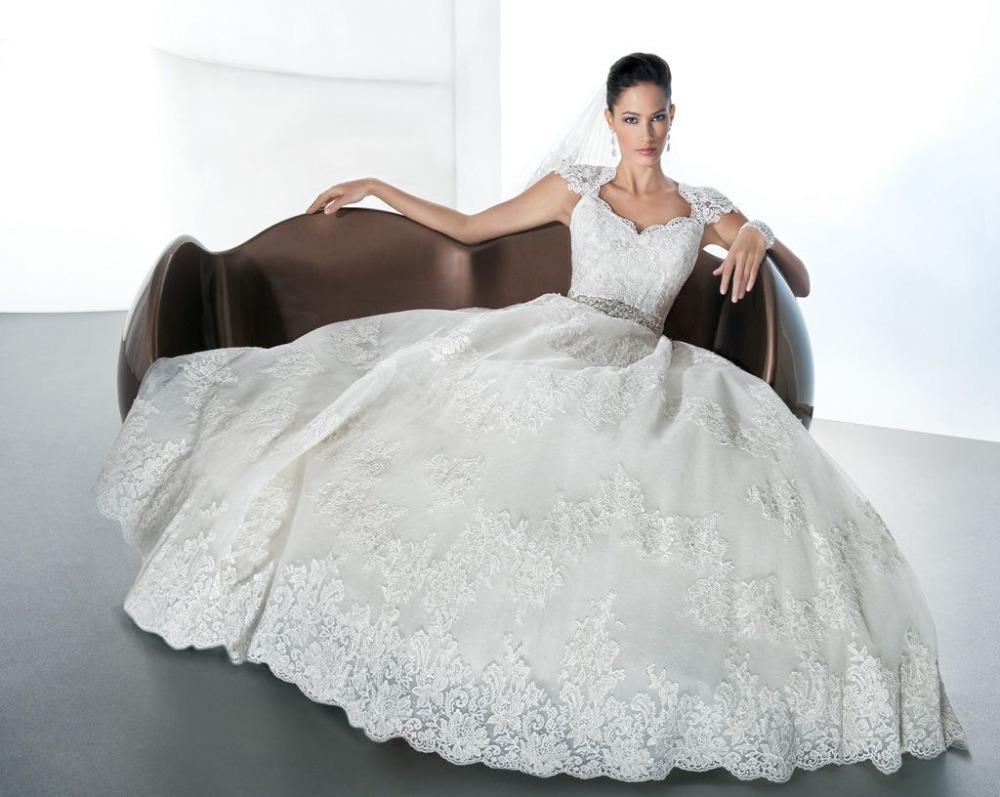 Vestido De Noiva 2014 Sexy Ball Gown Princess Wedding