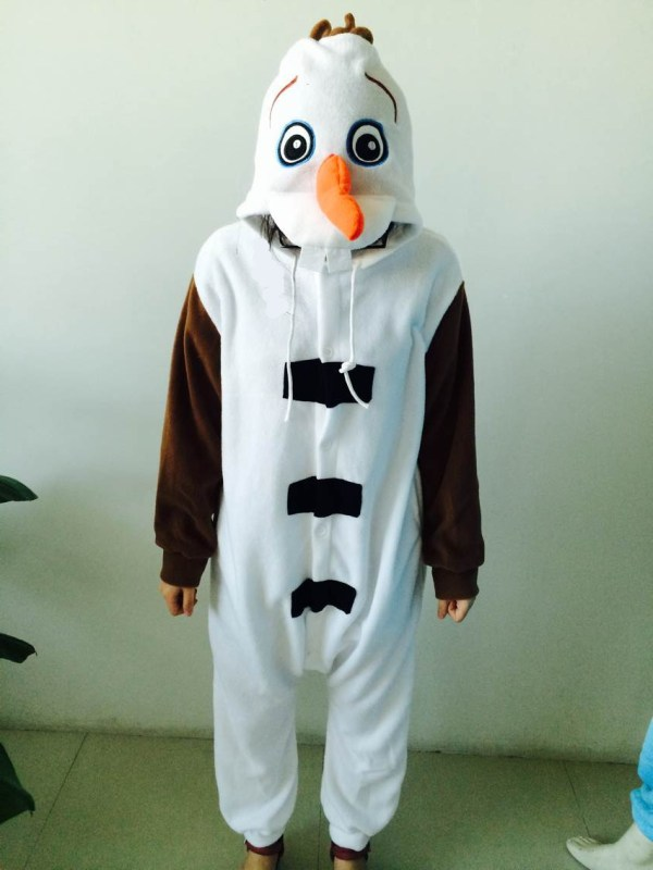 Kids 2014 Winter Frozen Costumes Children Lovely Olaf