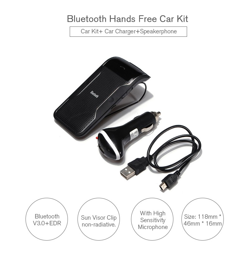 af9e4c604f4 ᗚKit sem fio Bluetooth Mãos-livres Carro com Carregador de Receptor ...