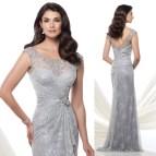 Summer Mother Bride Dresses Silver