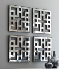 Mirrored wall decor fretwork square mirror framed wall art