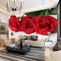 Popular Red Rose Mural-Buy Cheap Red Rose Mural lots from ...