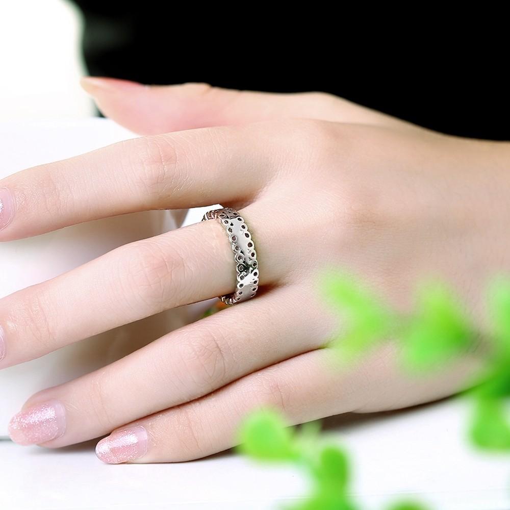 ୧ʕ ʔ୨New Luxury Small Round Women Bague Top Quality AAA Czech ...