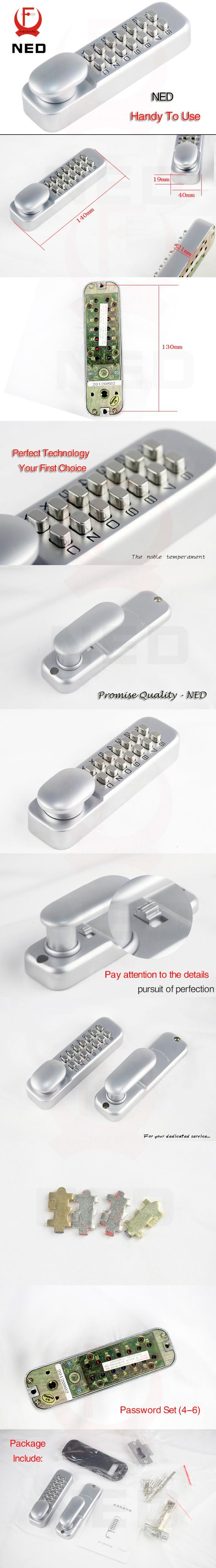 NAIERDI Zinc aleación miniatura mecánica Ciper cerradura impermeable ...