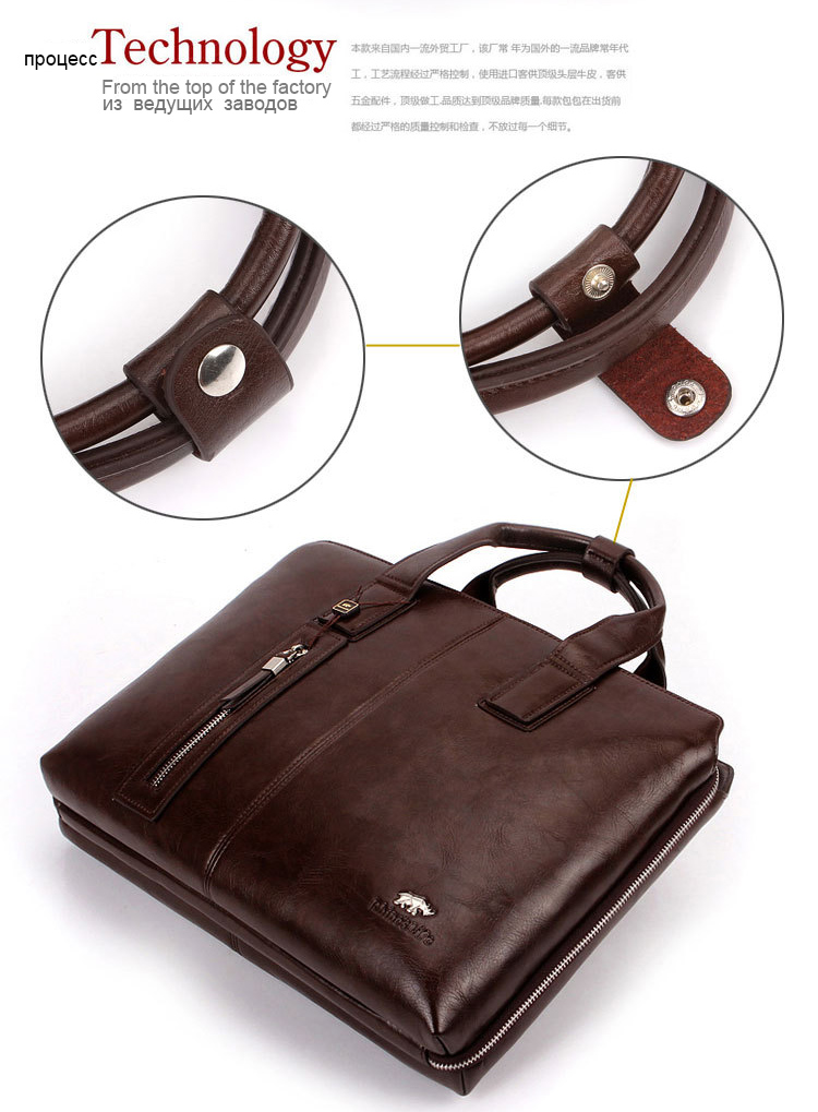 3d8a32a9193 ᗕ2018 NEW Men s PU Leather High End Business Briefcase Messenger ...