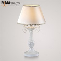 white fabric shade table lamp for bedroom decorative ...