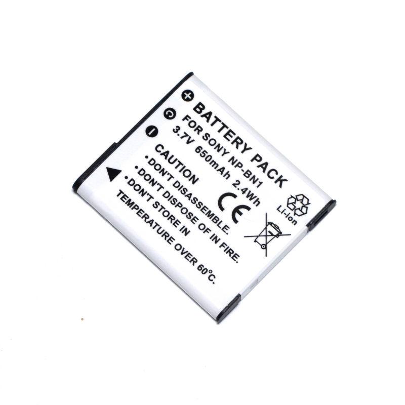 CONENSET 650 mah Batería + Cargador para Sony NP-BN1 DSC
