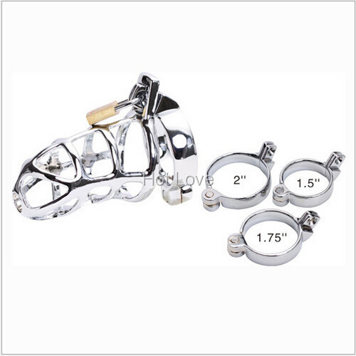 Alloy Metal Virginity Cock Chastity Devices Cages