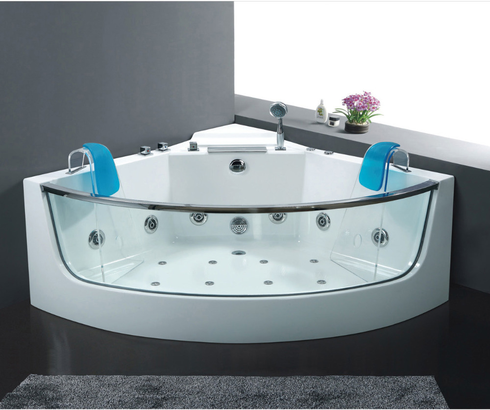 544 x 544 glass freestanding bathtub with jacuzzi functionwhirlpool spa bath free shipping