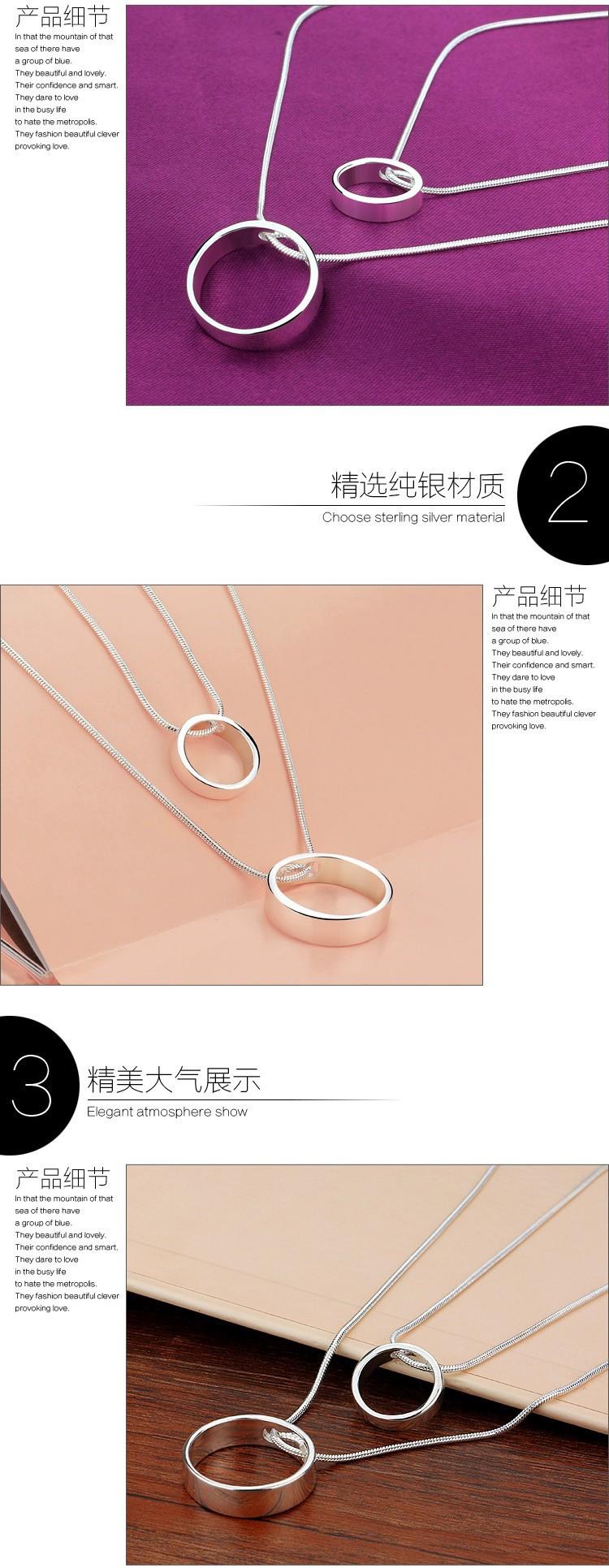 925 Silver Necklace Sterling Silver Pendants Women Fashion
