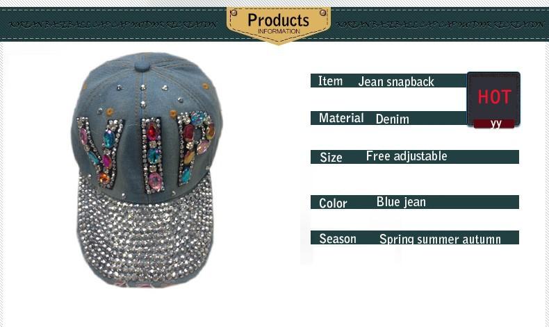 ⑦Colorido Diamantes con piedras falsas SnapBack sombreros para ...