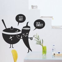 Kitchen Vinyl Wall Decal Fruit Vegetables Sweet Spicy Food