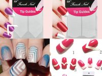 1pc Nails Sticker Nail Art Decals French Manicure Form ...