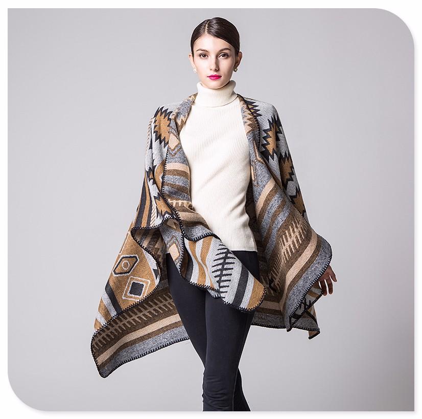 Nouvelle arrivée national vent à capuchon cape manteau épais climatisation  en été à franges châle poncho dans Foulards de Femmes ... 2dbb92850f6