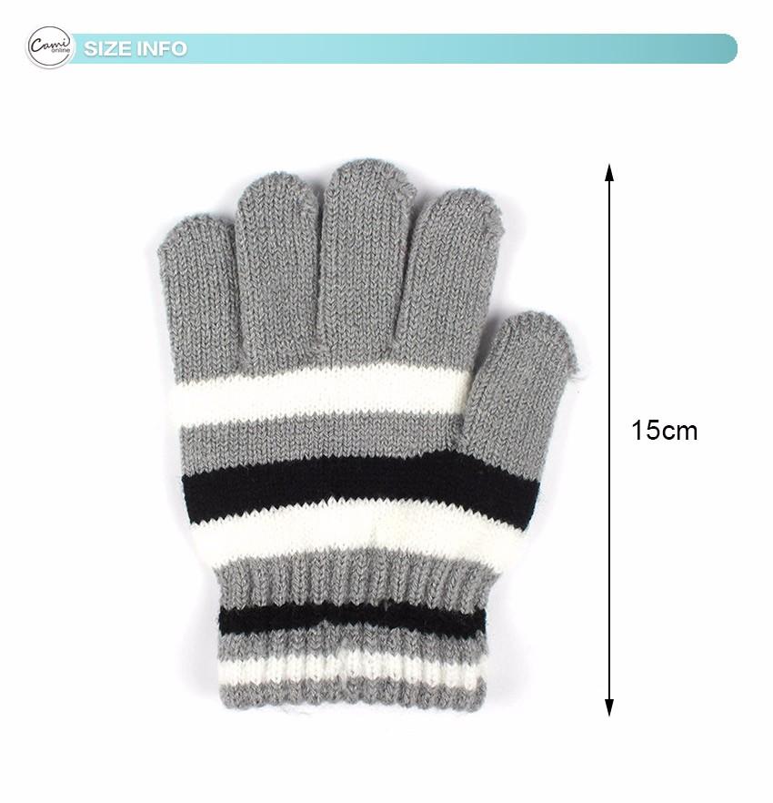 ̿̿̿(•̪ )Bebé Guantes rayas algodón invierno cálido manopla de punto ...
