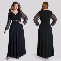 Ankle Length Plus Size Dresses - Holiday Dresses