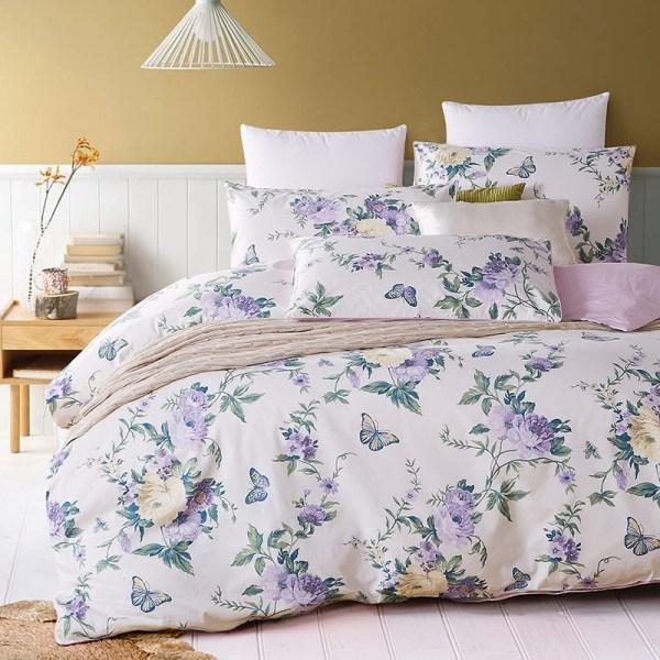 Purple Butterfly Bedding Set