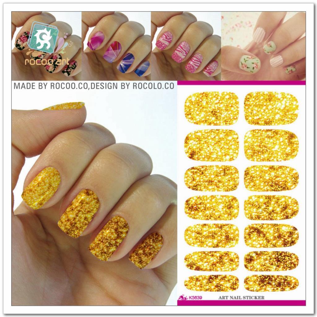 Φ_ΦFashion Minx nail sticker wraps Water Transfer Yellow plaid ...
