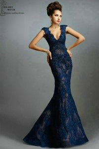 Prom Dresses Navy Long - Boutique Prom Dresses