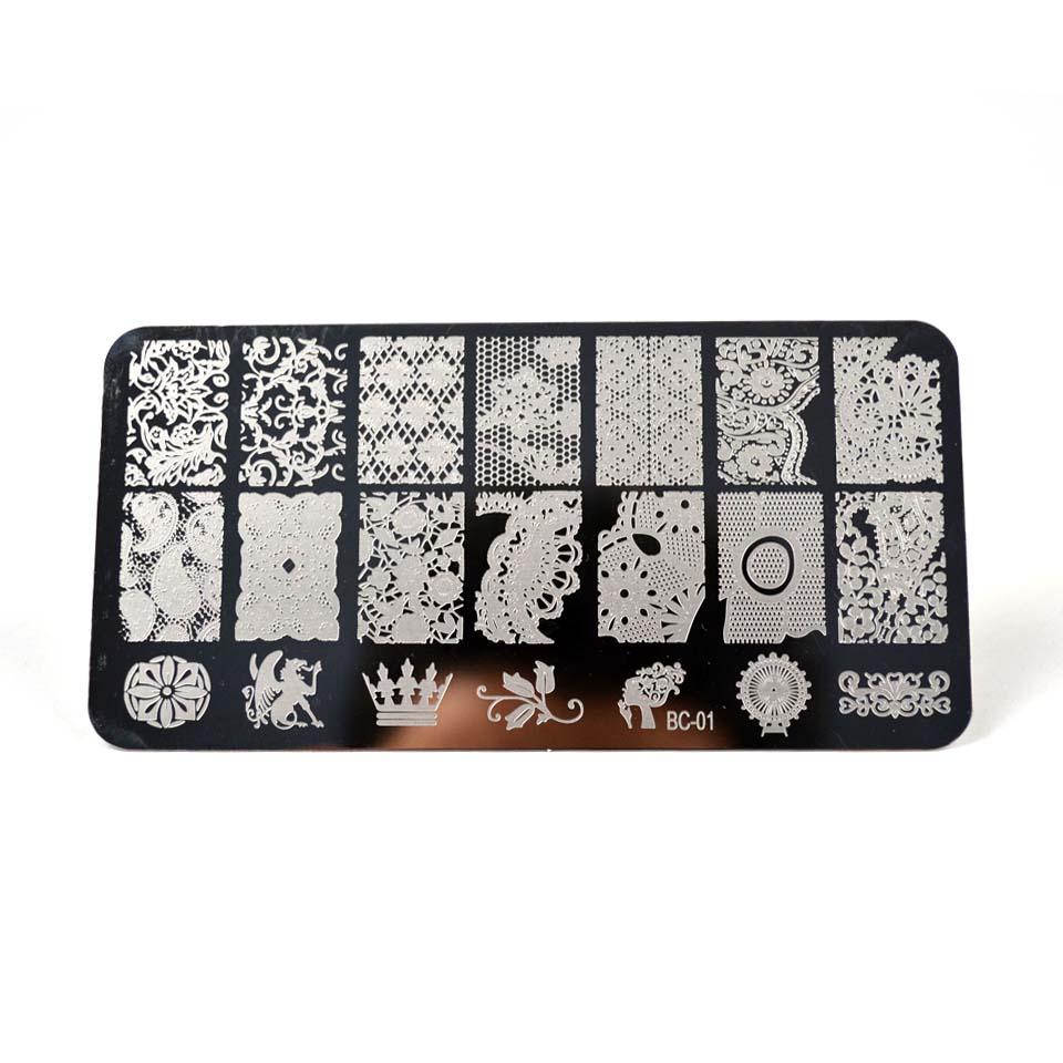 №Sello Nail Stamping placas placa patrones del arte del clavo placas ...